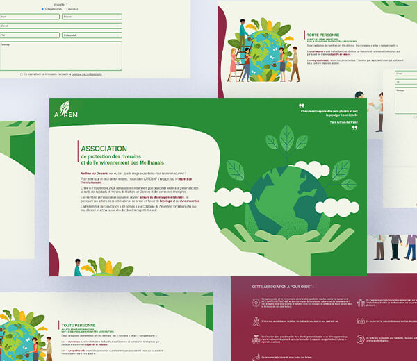 Création de logo pour une association de protection de l'environnement Meilhanais