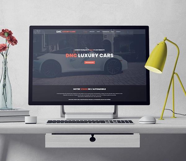 Aide au développement du site Dubai Nass Car location de voiture de luxe à Dubaï