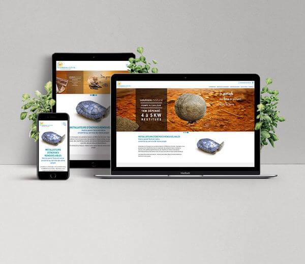 Refonte de site pour Solutions Nature